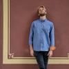 Dunkelblaues Hemd aus Bio-Baumwolle