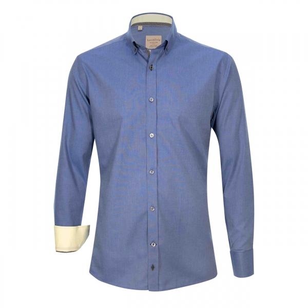 Elegante Hemd Individuell Design Slim Weiß Hemd