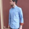 Slim fit Männer Hemd hellblau