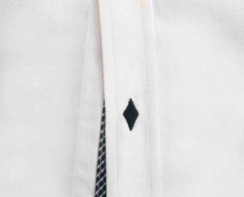 Weißes Business Hemd im slim fit Schnitt